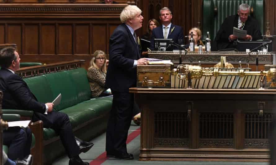 Boris Johnson faces Keir Starmer at Prime Minister's Questions on 9 September