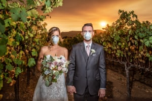 California wildfire wedding