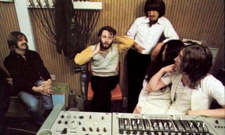 The Beatles in the studio in 1969.