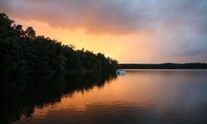 Sunset on the Großer Rheinsberger See