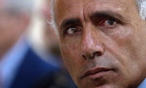 Israeli nuclear whistleblower Mordechai Vanunu at a media conference in Jerusalem in 2005.