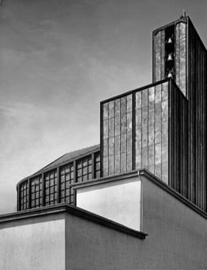 Stahlkirche on the grounds of the International Press Exhibition (Pressa), Cologne, 1928