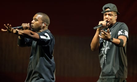 Kanye West and Jay-Z perform at the Verizon Center in Washington DC.