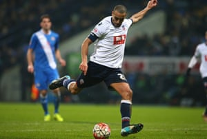 Darren Pratley fires Bolton Wanderers into the lead.