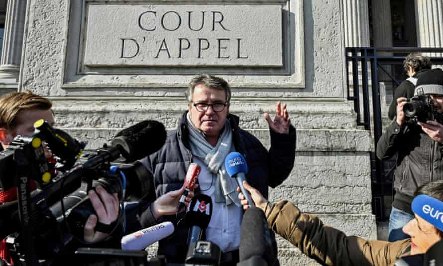 French farmer Paul François at the appeal court in Lyon