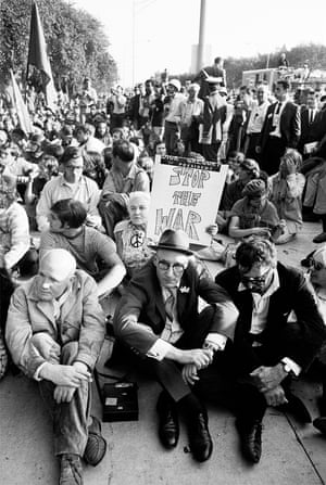 L to R: Jean Genet, WIlliam S. Burroughs, and Terry Southern. From CHICAGO 68: The Whole World is Watching, by Michael Cooper & Terry Southern