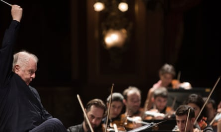 Daniel Barenboim during a reherseal with the West-Eastern Divan Orchestra at the Teatro Colon, in Buenos Aires.