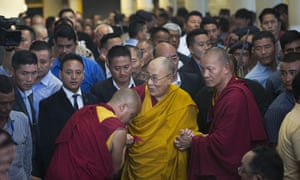 'It is considered a breach of etiquette to bring up unpleasant matters' ... the Dalai Lama in Dharamsala, India.