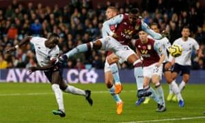 Sadio Mane of Liverpool scores his team's second goal.