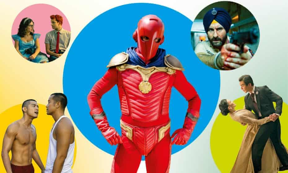Clockwise from top left: Nobody's Looking; The Neighbor; Sacred Games; The Ghost Bride; Nowhere Man.