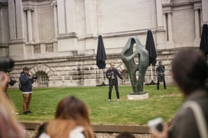 Outside the Christopher Kane show at Tate Britain