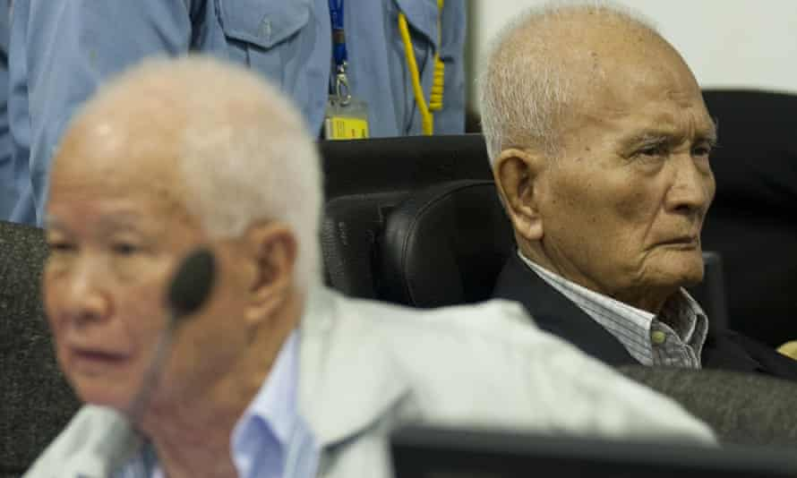 Khieu Samphan, left, and Nuon Chea, right, in 2013.
