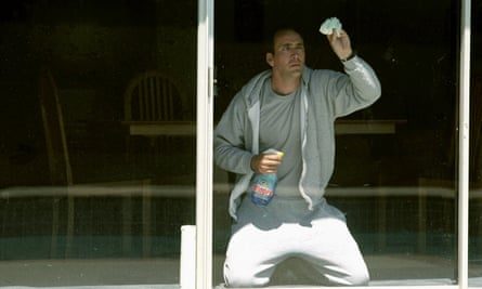 Nicolas Cage as an obsessive-compulsive window cleaner