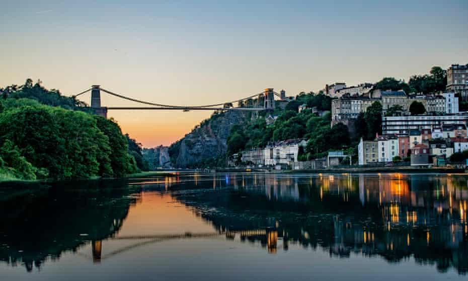 The Clifton suspension bridge.