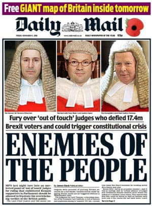 The Daily Mail front page that caused such controversy.