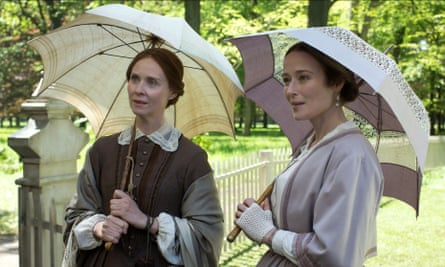Cynthia Nixon and Jennifer Ehle and Emily and Vinnie Dickinson in A Quiet Passion