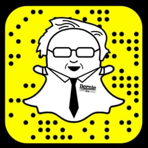 Bernie Sanders on Snapchat