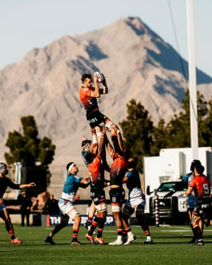 San Diego Legion win a lineout against the Colorado Raptors.