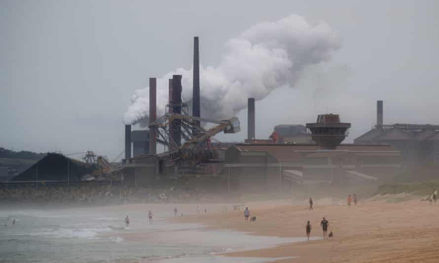 Port Kembla steelworks and coal loading facility
