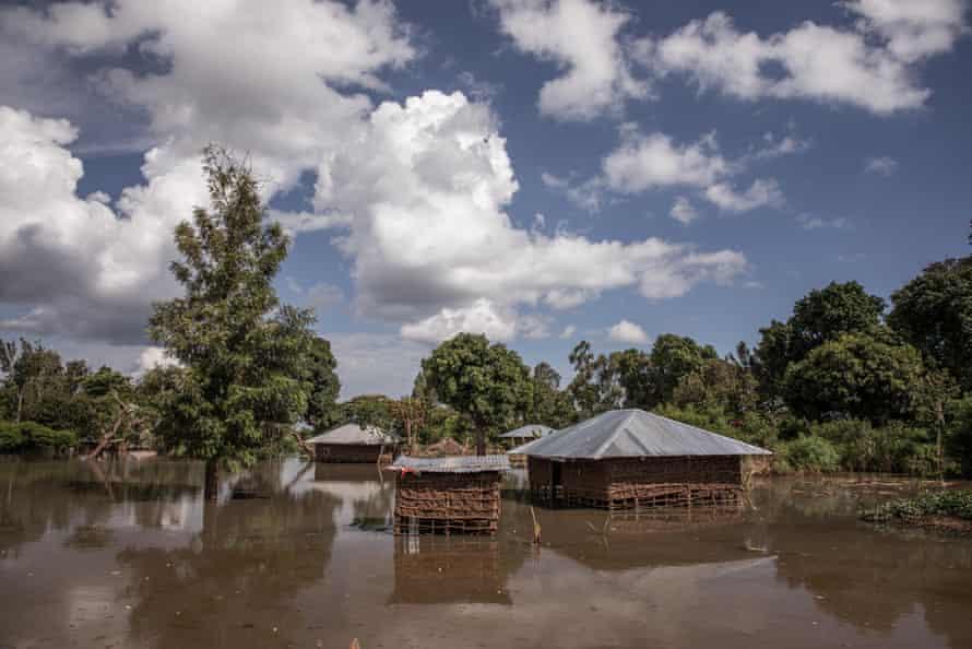 Flooding near Lake Victoria in Busia county.