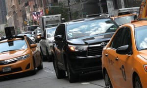 The number of cars plying New York's congested streets has exploded – to 113,000 licensed for hire vehicles as of 14 August, when the cap took effect, up from fewer than 47,000 at the beginning of 2014.
