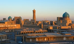 A view across the centre of Bukhara, Uzbekistan.