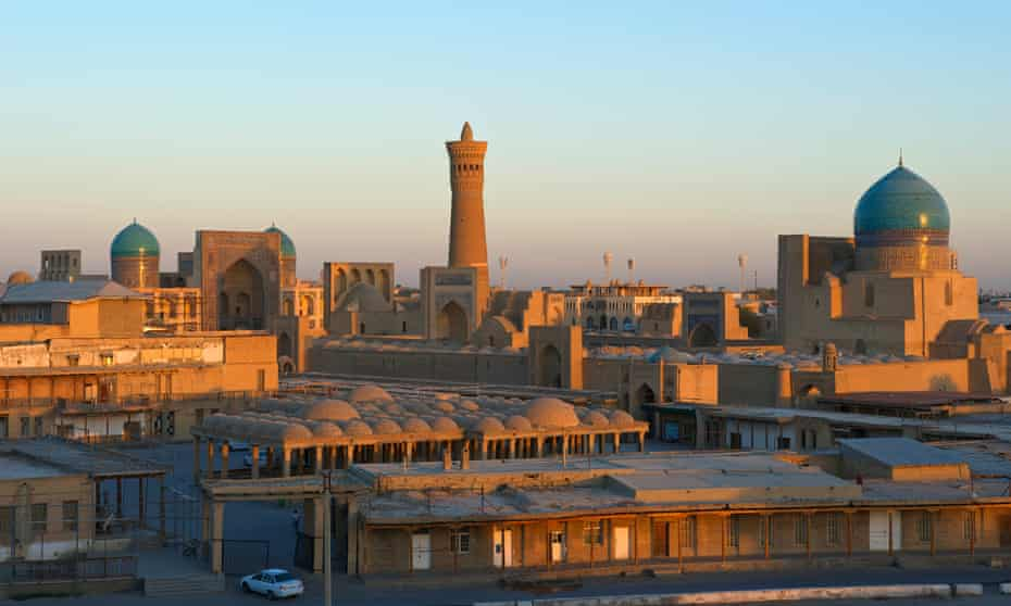 A view across the centre of Bukhara, Uzbekistan.