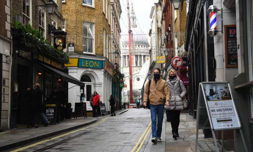 A street near St Paul's Cathedral in London on Friday.