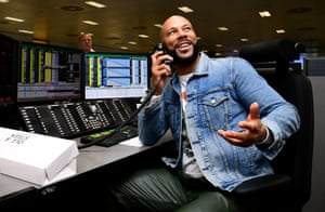 Rapper Common during the 15th BGC annual charity day at Canary Wharf in London, in commemoration of BGC's 658 colleagues and the 61 Eurobrokers employees lost on 9/11.