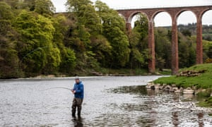 Kevin Patterson, salmon ghillie on the river Tweed in the Scottish Borders.