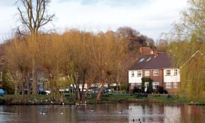 A view across the river in Esher, Surrey