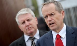 Brendan O'Connor and the Labor leader, Bill Shorten.