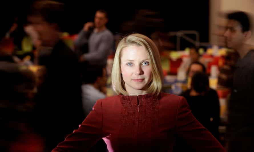 Marissa Mayer pictured at Google's headquarters in Mountain View, California in 2009. At the time Mayer served as Google's vice-president of search products & user experience.