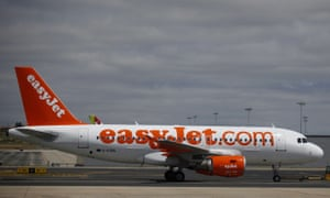 An Easyjet plane is seen at Lisbon's airport, Portugal.
