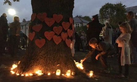 Candlelit vigil at Vernon Oak … a protest against tree felling in Sheffield.
