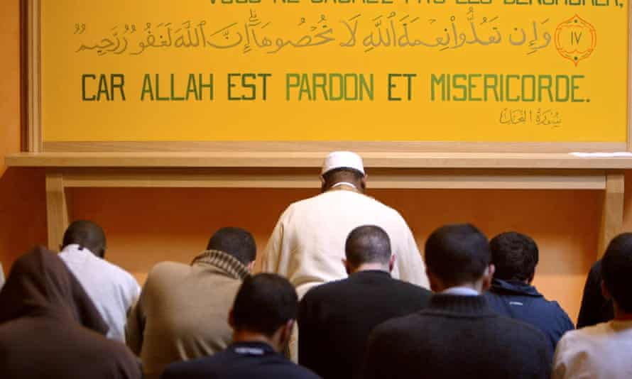 The then Imam at Osny prison, Nsangou Ntchara Mamadou, takes prayers in 2005.
