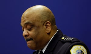 Eddie Johnson announces his retirement as Chicago's police superintendent on 7 November.
