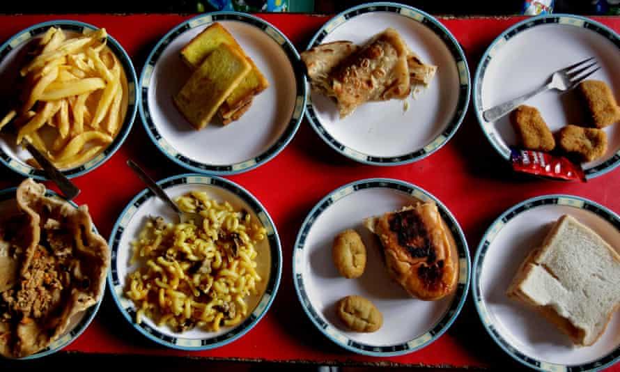 Lunch plates at a school in Rawalpindi, Pakistan