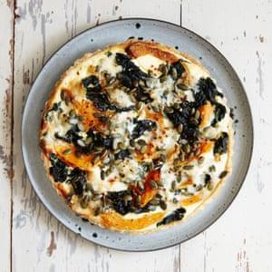 Pumpkin, cavolo nero and gorgonzola tart