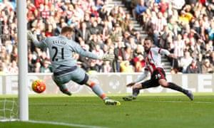 Fletcher scores the third.