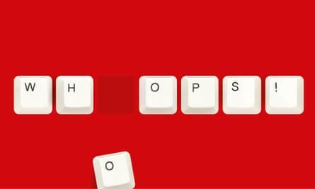 Keys spelling whoops