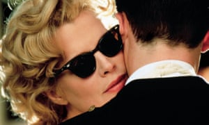 Kim Basinger and Guy Pearce in the film version of LA Confidential, the third volume of James Ellroy's LA Quartet.