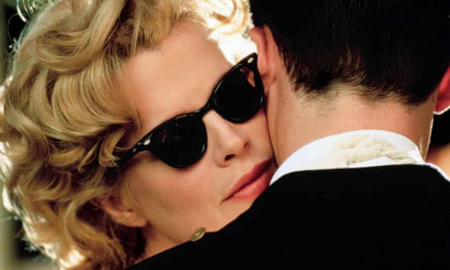 Kim Basinger and Guy Pearce in the film version of LA Confidential, the third volume of James Ellroy's LA Quartet.