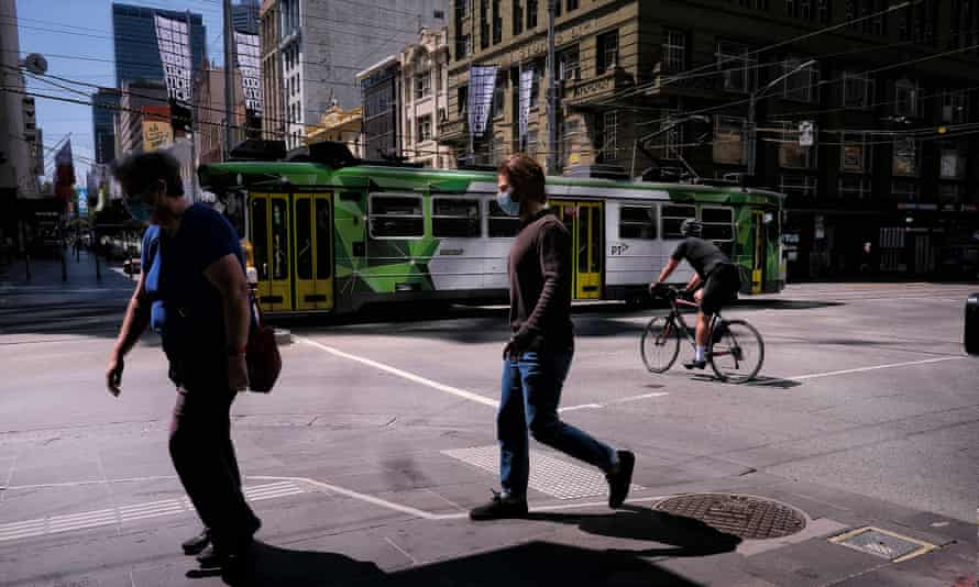 People on the street in Melbourne's CBD