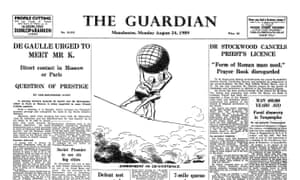 The newspaper officially changes its name to 'The Guardian'