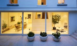Raumplan house and garden, Dublin, designed by John Feely Architects.
