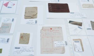 A hospital receipt and a newspaper clipping make up the trove of memorabilia.