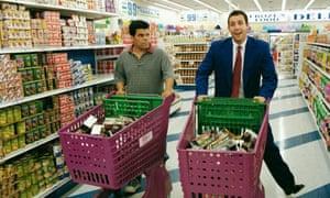 Luis Guzman and Adam Sandler in Punch-Drunk Love from 2002.
