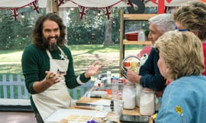 'Take a glance at those labia and tell me they're not adequate' ... Russell Brand inThe Great Celebrity Bake Off for Stand Up to Cancer.