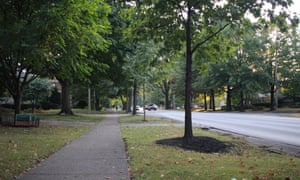 Louisville's Eastern Parkway is one of the city's greener areas, with towering trees providing shade.